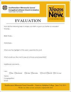 Evaluation Form Image